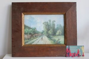 Gemälde Platte Porzellan Limoges William Guerin Dekoration Mann Landschaft