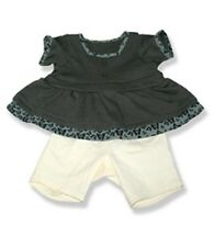 "Butterfly trim top with leggins outfit teddy bear clothes fits 15"" Build a Bear"