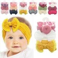 3pcs Newborn Girls Bow-knot Headband Flexible Elastic Baby Hair Band Accessories
