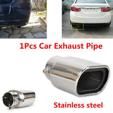 1Pcs Universal Car Stainless Steel Exhaust Tails Rear Silencer Tip Pipe End 63mm