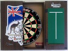 Winmau Blade 5 FIVE Dart Board & FORMULA Sports Bar Cabinet + 6 x Darts Set