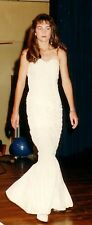 CREAM RUCHED LACE FISHTAIL GOWN, BRIDAL, EVENING, BRAND NEW, SIZE 8, COUTURE