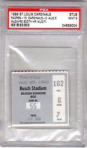 August 5, 1999 Mark McGwire 500th Career Home Run Ticket Stub PSA 9 Mint