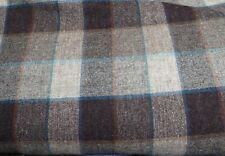 Gray Wool Plaid Heavy Suiting with Lovely Turquoise & Rust Accents from Woolrich