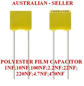 Polyester Film Capacitors Various Values x 10 Pcs
