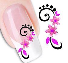 Nail Art de transferencia de agua Pegatina Adhesivos decorativos de flores calcomanías (DX1446)