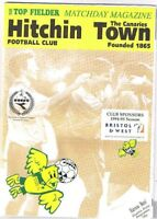 Hitchin Town v Harrow Borough 1994/5