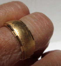 ESTATE 14K YELLOW GOLD BRUSHED BAND RING SIGNED WEDLOCK 8.70 Grams Size 9.25