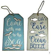 Beach Themed Wall Plaque Signs Coastal Design Grouping Nautical Wood Ocean Sea