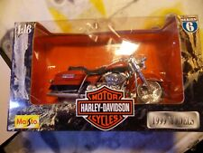 1999 MAISTO SER 3 HARLEY DAVIDSON FLHR ROAD KING 1:18 SCALE DIECAST METAL BIKE