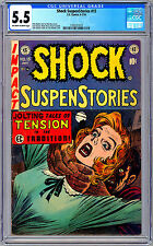 SHOCK SUSPENSTORIES #15 CGC 5.5 *CONTROVERSIAL STRANGULATION CVR STORY* EC 1954