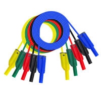 5Pcs 4mm Stackable Banana Plug Wire Silicone Test Cable Lead for Multimeter