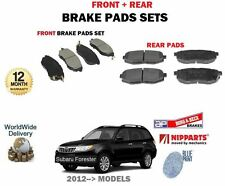 FOR SUBARU FORESTER 2.0DT 2.0i 2012-->NEW FRONT + REAR BRAKE DISC PADS SET