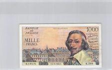 France 1000 Francs Richelieu 4.10.1956 K.288 n° 0718462826 Pick 134a