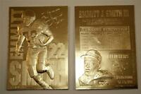 EMMITT SMITH 1995 23KT Gold Card Sculptured NFL Dallas Cowboys Limited NM-MT