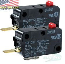 2x Omron V-16G-3C25-K Action Switches MINIATURE BASIC SWITCH