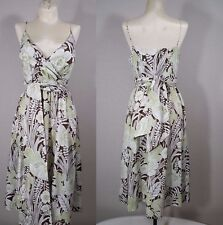 Tommy Bahama Faux Wrap Floral Dress Size 2 Womans V Neck Sleeveless
