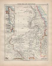 Mapa de 1902 ~ ~ superior del Nilo & East Sudán Canal de Suez