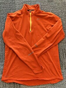 Nike Running Element 1/4 Zip Men's Athletic Tennis Football Pullover Shirt Top