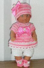 Puppen 8,5 cm  Puppenstube neu 3-tlg Set Anzug Mütze Schuhe Schildkröt SK  Mini