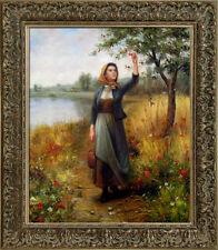 Daniel Ridgway Knight Brittany Girl Handmade Oil Painting repro