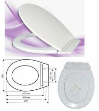 S11 Universal Oval Shape Adjustable Toilet Seat white WC Including Fittings