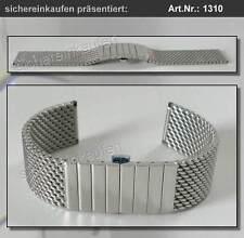 STAIB Edelstahlband (Pforzheim) Milaneseband Uhrenarmband 22 mm POLIERT #1310-22