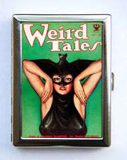 Women Bat Cigarette Case Wallet Business Card Holder pin up retro pulp