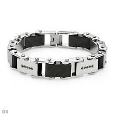 Gentlemens Bracelet With 0.50ctw Genuine Diamond Made of Stainless steel 8.5""