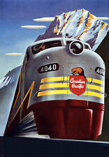 Canadian Pacific train railway Travel Vacation a3 Type Poster Print