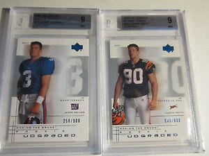 2001 JESSE PALMER BGS 9 MINT & JUSTIN SMITH BGS 9 MINT CARDS  LOT B 11
