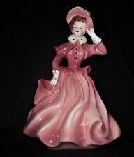 Vtg Florence Ceramics Figure, JEANETTE, Rose & White, Flawless, Artist Sgnd