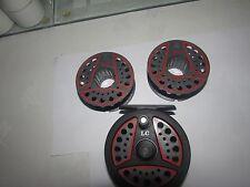 v good  vintage leeda LC80 trout fly fishing reel  + 2 spools 3.+ 3/8ths .`