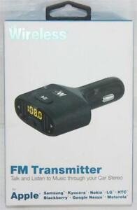 Just Wireless FM Transmitter for Smartphones Talk/Listen to Music w/ Car Stereo