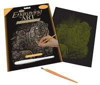 Royal and Langnickel - Engraving Art Set - Lions and Cubs - Gold Foil