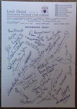 ⚽ LEEDS UNITED 1972 AUTOGRAPH SHEET ⚽ Revie Clarke Bremner ⚽ Fabulous PRINT ⚽