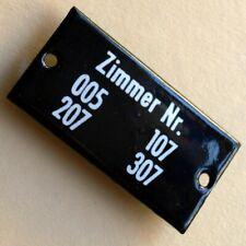 ZIMMER Nr. 005.. Altes Emailschild um 1950 MAKELLOS Technik Hotel Jugendherberge