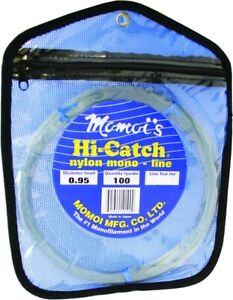 Momoi Hi-Catch Mono Leader Coil 130lb 100yd Coil Smoke Blue
