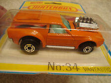 Vintage 1975 Matchbox Superfast Vantastic - Carded - Lesney Made in England