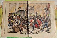 Ancienne Gravure Illustration de 1896 Grand Incendie à Bordeaux la lutte contre