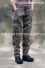 Custom 1/6 Female Combat Pants M-002B od Green Trousers F 12'' Female Figure