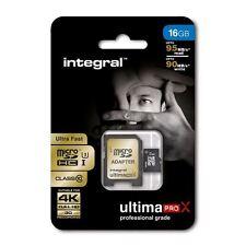 Fast 16GB microSDHC Class 10 UHS-I U3 95MB/s + Adapter. Ideal 4K, Full HD Video