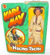 "Mattel USA BIG JIM KARL MAY 10"" NSCHO-TSCHI INDIAN MOVIE Action Figure MIB`77!"