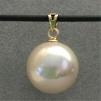 Huge AAA+ 16mm South Sea Pink Shell Pearl 14k Gold Pendant Accessories Wedding
