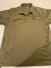 Under Armour Golf Polo Shirt Xxl 2Xl Khaki Green Color