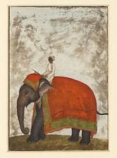 PAINTING KHAN (ATTR.) MUGHAL EMPEROR'S CEREMONIAL ELEPHANT POSTER PRINT LF3080