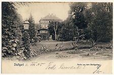 STUTTGART Partie aus dem Stadtgarten * AK um 1900