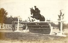 WWII Org Japanese Large Army RPPC- Equestrian Sport- Cavalry- Horse- Obstacle