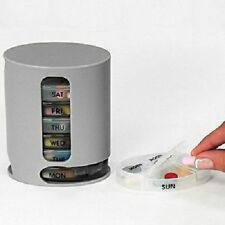 Weekly Pill Box 7 Day Pill Organizer Dispenser COLOR GREY