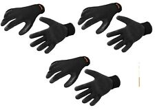 Scruffs Utility Work Gloves 3 PACK Latex Coated Tear Resistant Black T50997